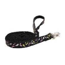Durable Dog Collar Leash Strap For Puppy Pet,black