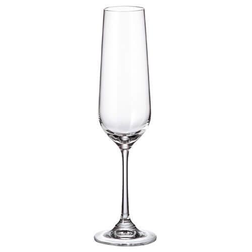Durobor Crystalite Bohemia Strix Set Of 6 Flute Glasses