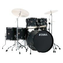 Tama Imperialstar 6 Piece Drum Kit Blacked Out Black im62h6nb-bob