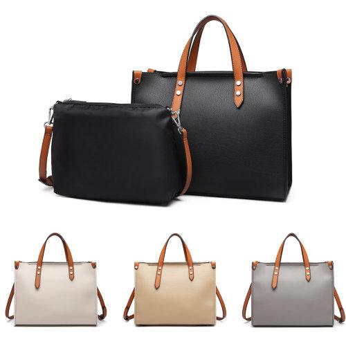 b1501a7cf168d Miss Lulu Women Handbag Shoulder Bag Purse Set 2 Pieces on OnBuy