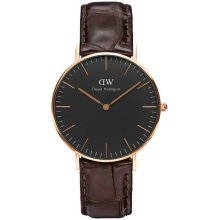 Daniel Wellington Ladies DW00100140 Classic Black York Quartz Watch