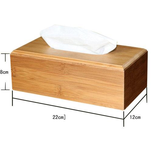 Simple Design Bamboo Toilet Paper Tissue Paper Holder/Tissue Box (22*12*8cm)