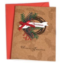Christmas Cards Greeting Cards Christmas Gift Beauitful Xmas Cards (4 Cards and Envelopes), Brown #4