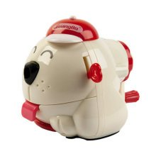 Cute Dog Manual Pencil Sharpener for Office and Classroom ( Buff )