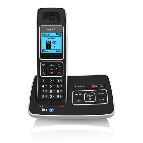 BT 6500 Single DECT Handset Cordless Telephone With Answering Machine Black