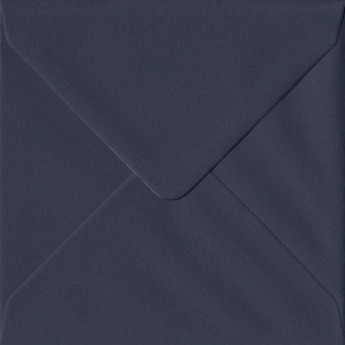 Navy Blue Gummed 155mm Square Coloured Blue Envelopes. 100gsm GF Smith Colorplan Paper. 155mm x 155mm. Banker Style Envelope.