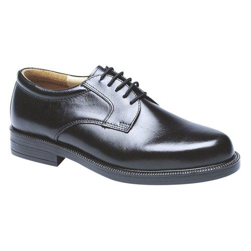 Scimitar Mens Plain Gibson Shoe Black