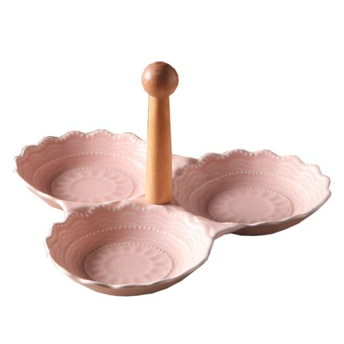 One Ceramics Serving Dishes Trays Platters Candy Dishes Decorative Tray Fruit Plate (Pink)