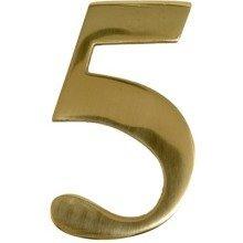 Brass Door Number 5 Self Adhesive