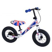 Kiddimoto Super Junior Max Metal Balance Bike - 18 Month to 5 Years - The Easiest Way To Teach Kids To Ride - Union Jack