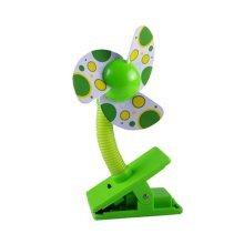 Noiseless Mini Clip-On Fan, Green