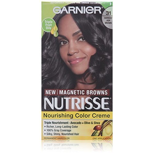 Garnier Nutrisse Nourishing Color Creme 31 Darkest Ash Brown