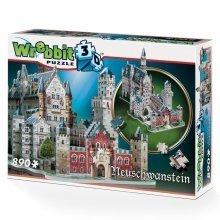 Wrebbit Neuschwanstein Castle Large 3d Jigsaw Puzzle (890 Pieces)