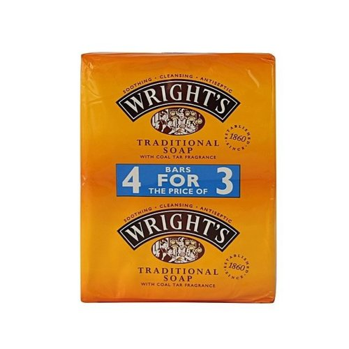 Wrights Coal Tar Traditional Soap 125g 4 for 3