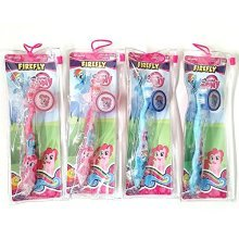 Total 4 sets Toothbrush with Cap and Pouch Travel Kit: My Little Pony Pinkie Pie Rainbow Dash