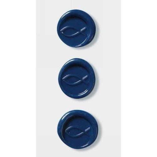 Cobalt Blue Christian Fish Wax Seals By Artoz