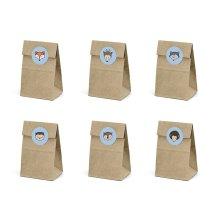 Treat bags Woodland 6pc