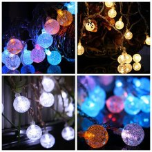 KCASA 2M 20 LED Bubble Ball String Lights