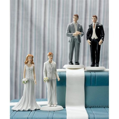 Weddingstar 8453 Fashionable Groom in Grey Tux Cake Topper- Groom Only