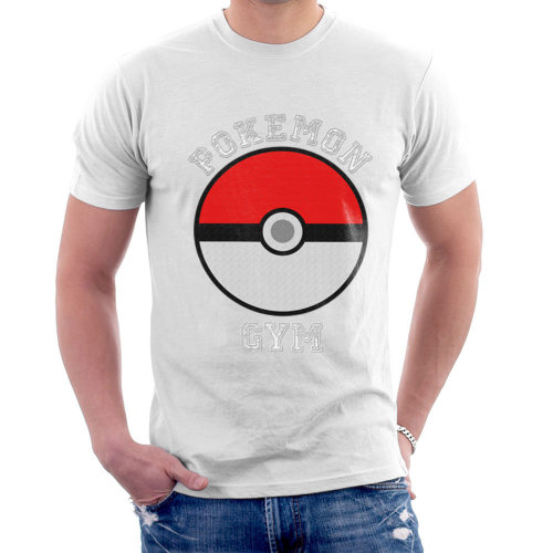27eb2d890 (X-Large, White) Pokemon Gym Men's T-Shirt on OnBuy