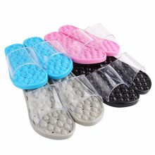 Bathroom Transparent Slippers Water Drop Shape Bottom