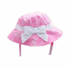 Summer Baby Girl Caps Cotton Sun Hat For 2-3 Years Baby Pink