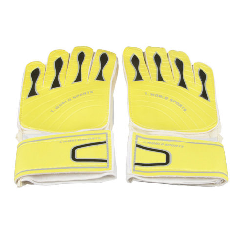 Adults Receiver Glove Latex Football Receiver Gloves, (White/Yellow, M)