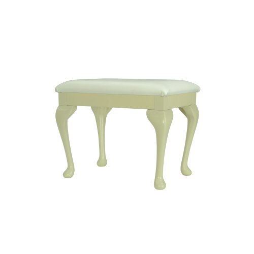 Cream large Dressing Table/ Bedroom/ Foot stool with Queen Anne legs