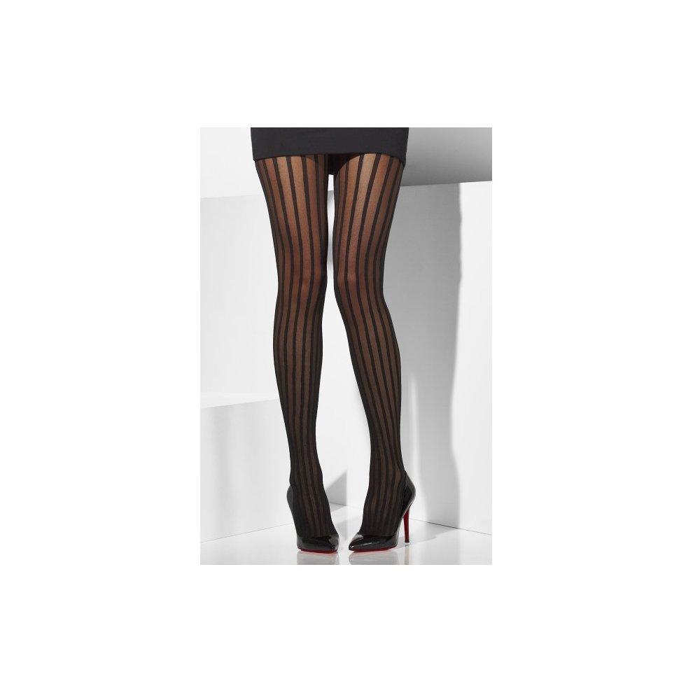 83b663e60 Black Sheer Striped Tights - tights black vertical fancy dress sheer ladies  stripes accessory striped halloween.