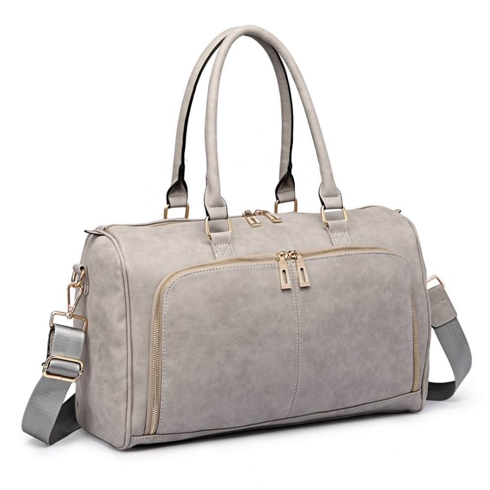 c2144e2a80dce ... Miss Lulu 3pcs PU Leather Baby Diaper Nappy Changing Bag Set Light Grey  - 1 ...