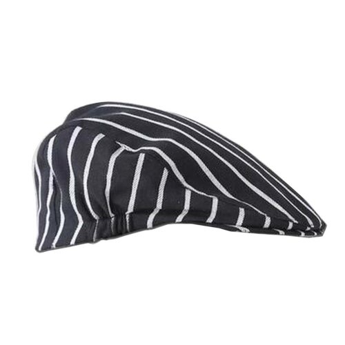 [Black Stripe] Kitchen Chef Hat Restaurant Waiter Beret Bakery Cafes Beret