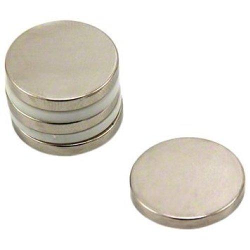 Magnet Expert® 20mm dia x 3mm thick N42 Neodymium Magnet - 4.6kg Pull ( Pack of 4 )