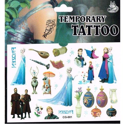 Disney frozen 3pc tattoo sheets frozen temporary tattoos for Disney temporary tattoos