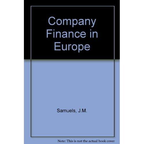 Company Finance in Europe