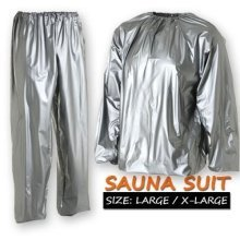 MEN WOMAN SAUNA SUIT FOR WEIGHT LOSS SLIMMING TRAINING EXERCISE SWEAT GYM HOME [Large / Extra Large (Men)]