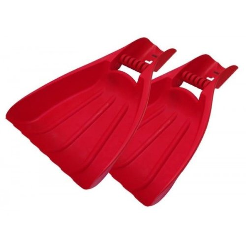 Heavy Duty Leaf Collectors Red Plastic Hand Grabing Picker
