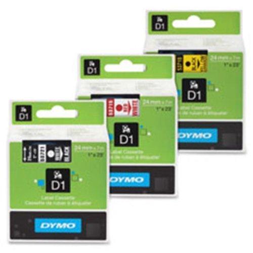 Dymo DYM53718 Label Cassette, 1 in. x 23 in., Black-Yellow