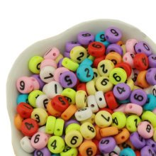 Colorful Round Beads A-Z Letter for Making Jewelry