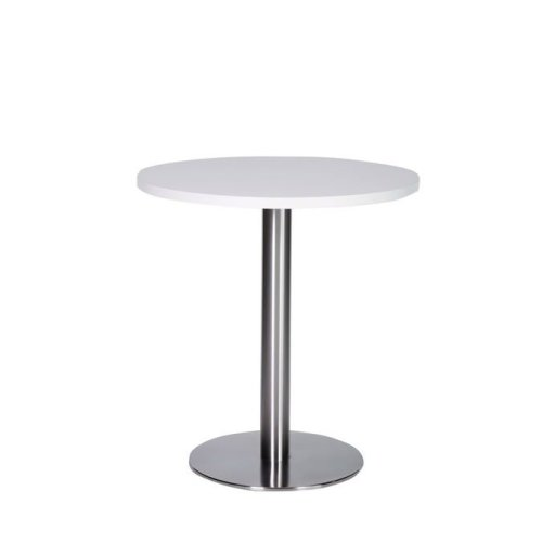Daniella Extra Small 60 Cm Round Dining Table with Brushed Stainless Steel Base