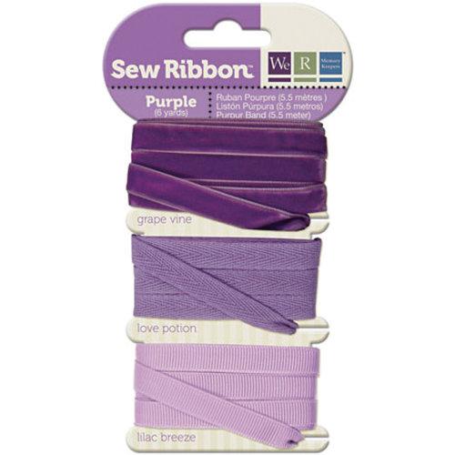 "We R Memory Keepers Sew Ribbon .375""X6yds-Purple"