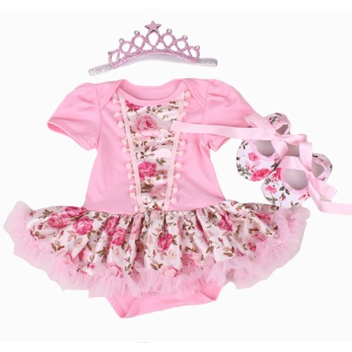 NPK A Set Doll Clothes for 20-22 inch Doll Baby Girl Clothing Matching Dairy Cow (c)