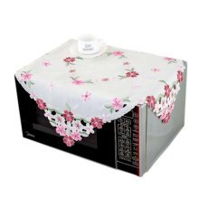 European Style Embroidered Microwave Oven Cover Microwave Protector, H