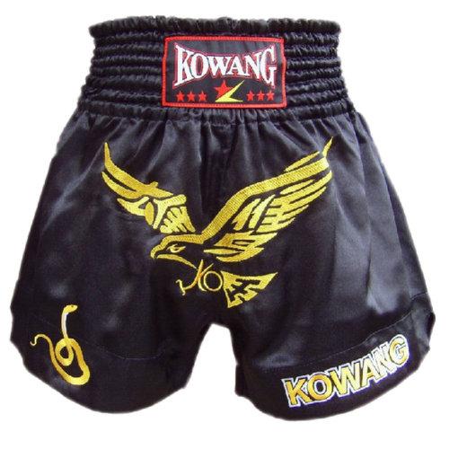 Fight Kick Boxing Brief MMA Muay Thai Trunks Shorts Embroidery Eagle Black, XXL
