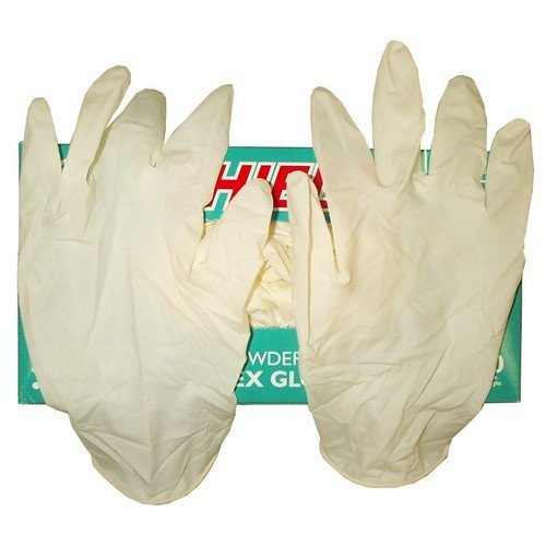 TTD LATEL Disposable Latex Gloves Pack of 100 Extra Large