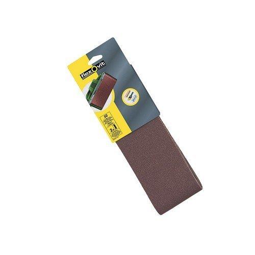 Flexovit 63642526477 Cloth Sanding Belts 610mm x 100mm 50g Coarse Pack of 2