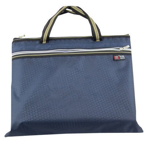 Oxford Jaquard Executive Document Bag Laptop Bag Briefcase (30.5 x 36cm) BLUE