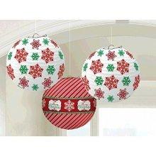 Christmas Paper Lanterns 24cm