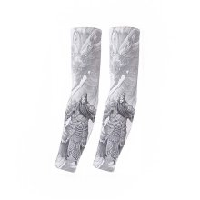 UV Sun Protection Arm Sleeves Breathable Long Sleeves To Cover Arms Grey Guan Yu