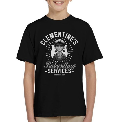 Clementines Babysitting Services Walking Dead Kid's T-Shirt