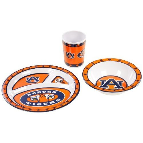 NCAA Auburn Tigers Kids 3-Piece Dish Set
